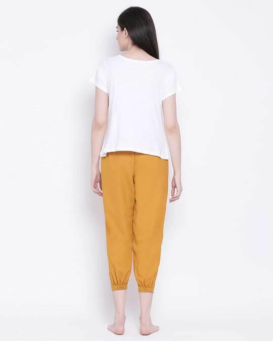 Shop Clovia women Chic Basic Pyjama & Top set-Design