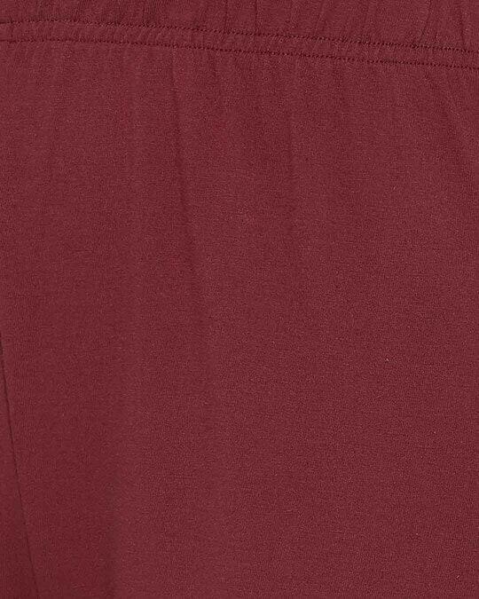 Shop Chic Basic Pyjama In Maroon  Cotton Rich