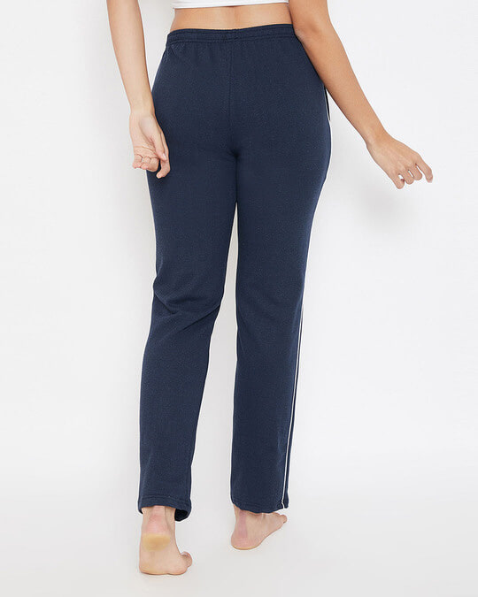 Shop Chic Basic Pyjama In Navy   Fleece-Back