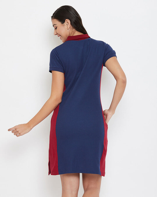Shop Chic Basic Short Night Dress In Navy   Cotton Rich-Full