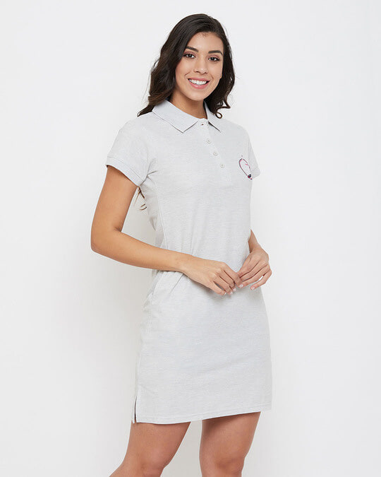 Shop Chic Basic Sleep Tee In Grey   Cotton Rich-Design