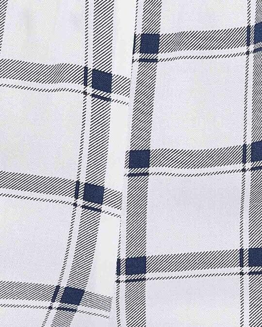 Shop Classic Checks Button Me Up Shirt & Shorts In White   Rayon