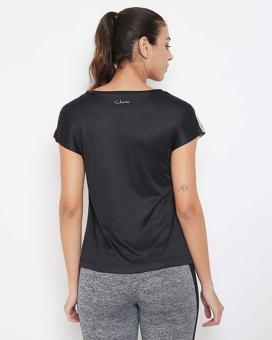 Shop Comfort Fit Active Printed T Shirt In Multicolour-Back