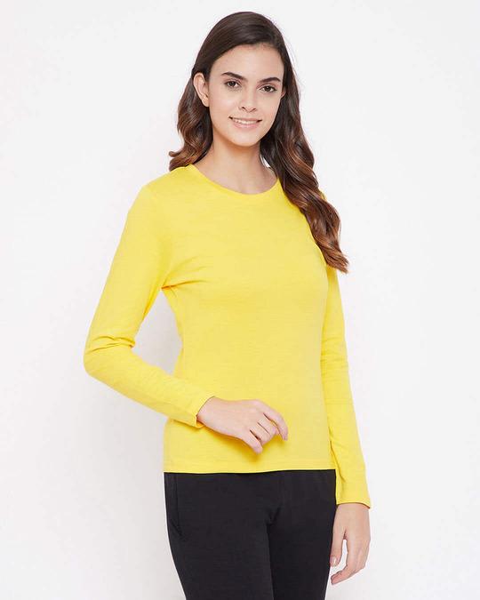 Shop Cotton Chic Basic Full Sleeve T Shirt-Back