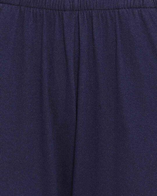 Shop Clovia Cotton Printed Top & Basic Pyjama Set