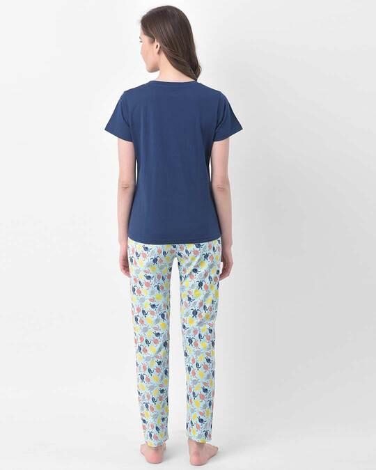 Shop Clovia Cotton Printed Top & Pyjama Set-Design