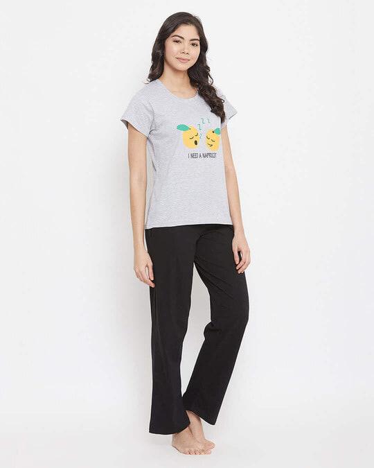 Shop Cotton Printed Top And Pyjama Set-Back
