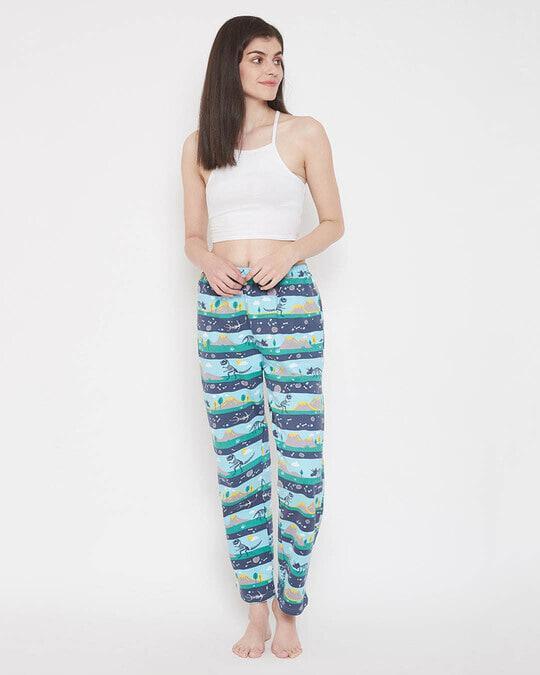 Shop Dinosaur Print Pyjama In Multicolour-Full