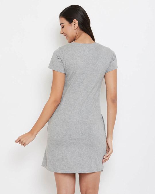 Shop Gift & Heart Print Short Night Dress-Full
