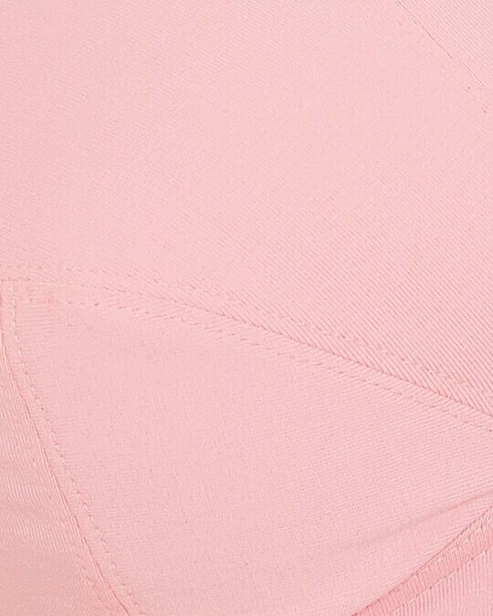 Shop Non Padded Non Wired Full Figure Bra In Baby Pink   Cotton-Full