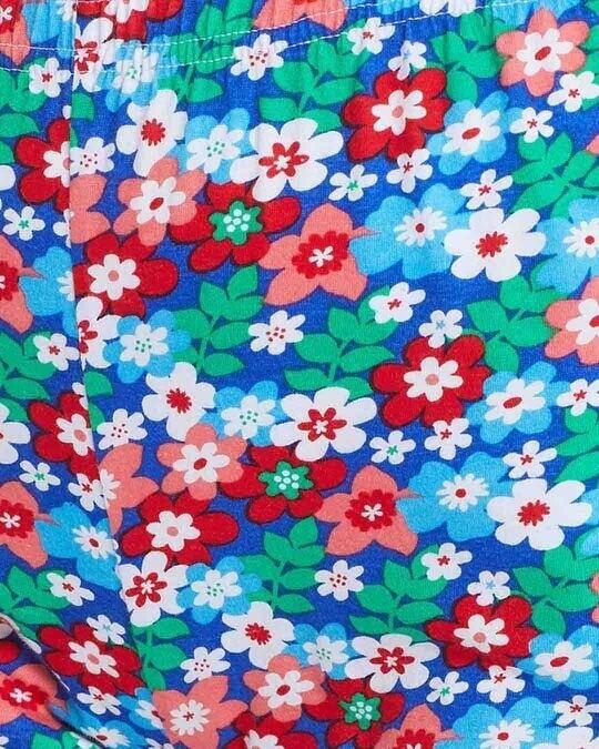 Shop Clovia Pretty Florals Boxer Shorts in Multicolour- 100% Cotton