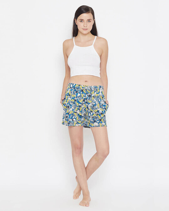 Shop Pretty Florals Boxer Shorts In Multicolour-Full