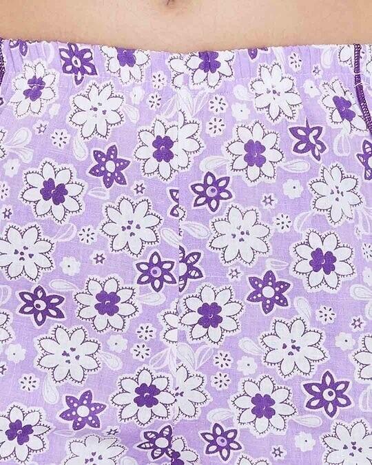 Shop Pretty Florals Cami Top & Shorts In Purple