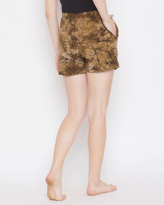 Shop Print Me Pretty Boxer Shorts In Brown  100% Cotton-Design