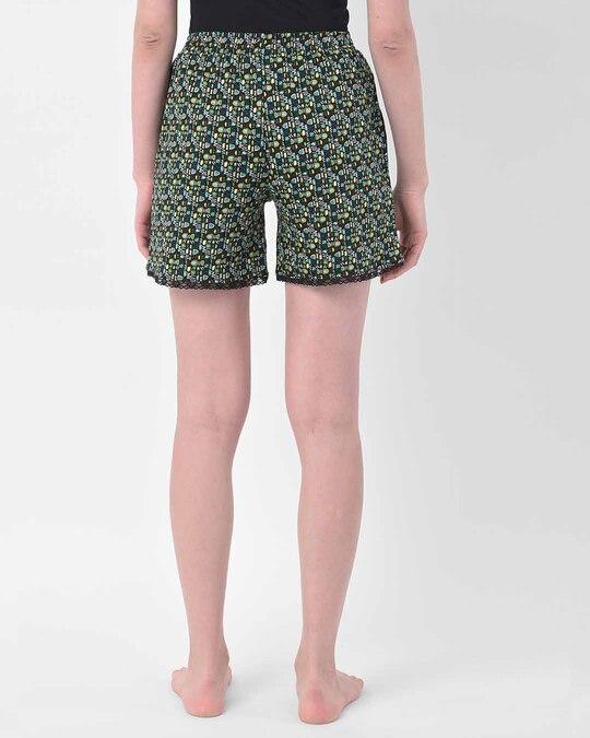 Shop Clovia Print Me Pretty Boxer Shorts in Multicolor-Design