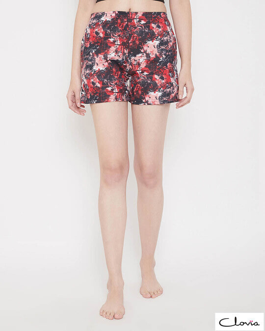 Shop Print Me Pretty Boxer Shorts In Red-Front