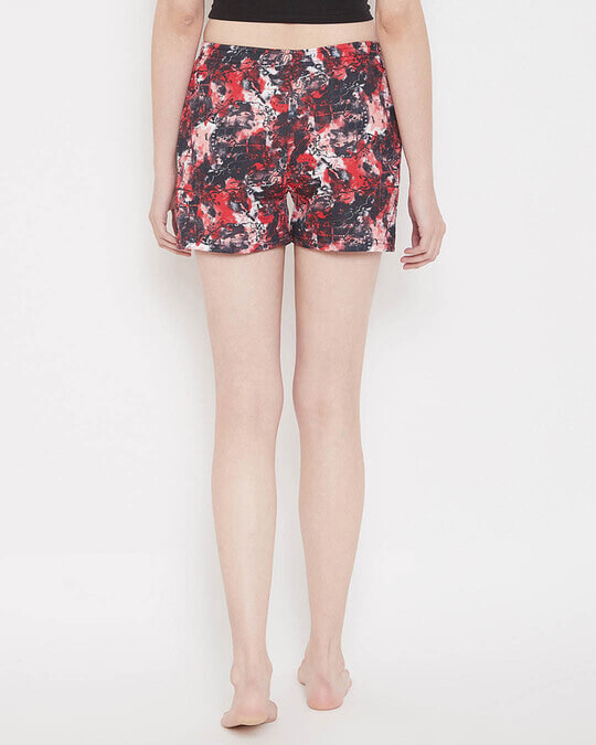 Shop Print Me Pretty Boxer Shorts In Red-Back