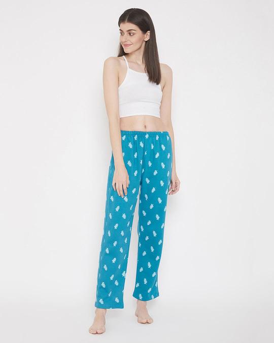 Shop Print Me Pretty Pyjama In Turquoise