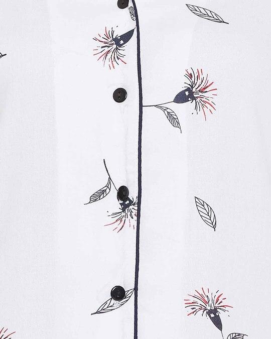 Shop Clovia Rayon Button Down Collar Sleepshirt
