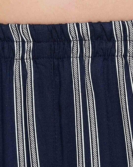 Shop Rayon Stripes Printed Cami Top & Jacket Pyjama Set