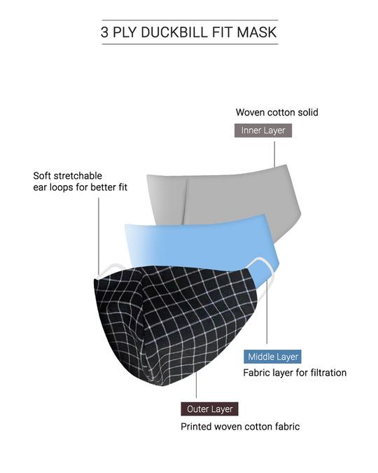Shop Reusable 3 Layer Duckbill Fit Face Mask
