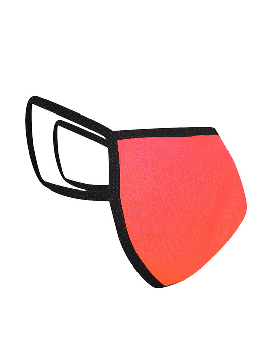 Shop Reusable 3 Ply Face Mask In Coral Pink-Design