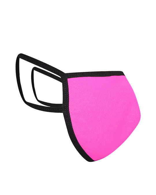 Shop Reusable 3 Ply Face Mask In Pink-Design