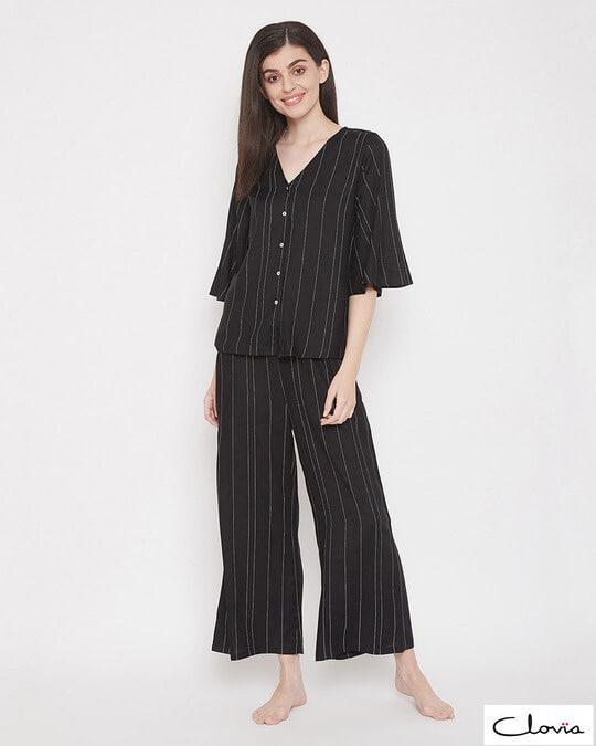 Shop Sassy Stripes Top & Pyjama Set-Front