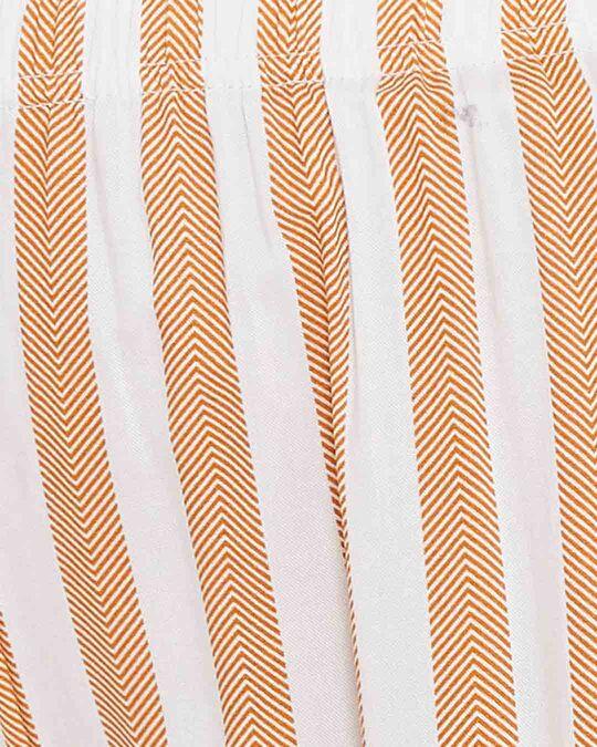 Shop Sassy Stripes Pyjama In Beige-Full