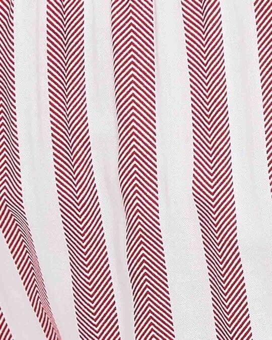 Shop Sassy Stripes Pyjama In White