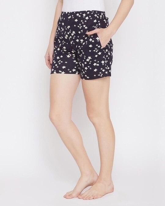 Shop Starry Nights Boxer Shorts In Dark Blue  Cotton Rich-Back