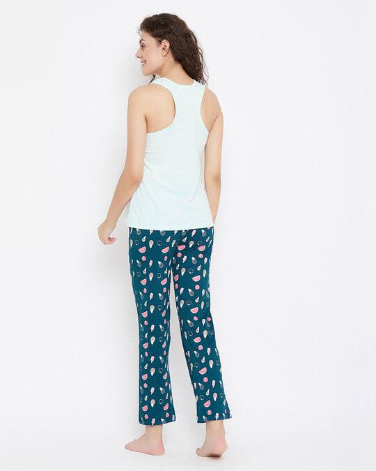 Shop We Bare Bears Top & Pyjama In Blue  100% Cotton-Design