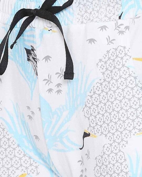 Shop Wild At Heart Top & Short Set In Light Blue   100% Cotton