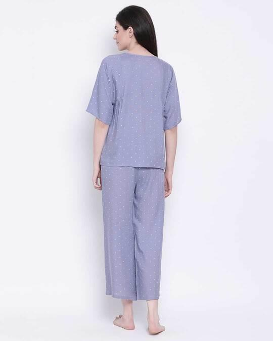 Shop Women Polka Print Top & Pyjama Set-Design