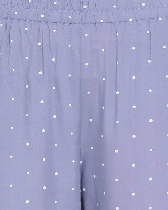 Shop Women Polka Print Top & Pyjama Set