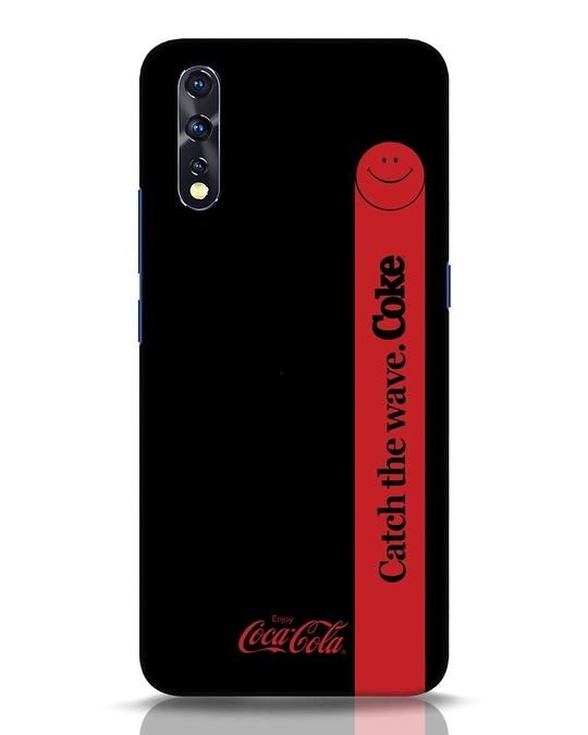 Shop Coca-Cola Black Catch The Coke Vivo Z1x Mobile Cover-Front