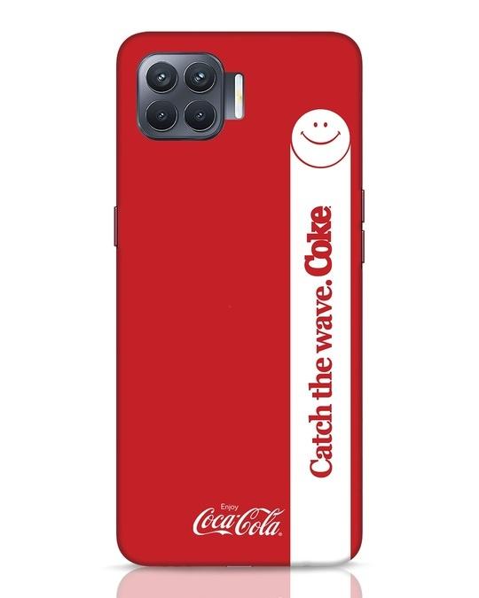 Shop Coca-Cola Catch The Coke White Oppo F17 Pro Mobile Cover-Front