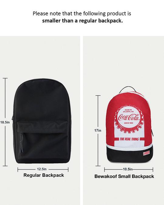 Shop Coca Cola Printed Small Backpacks-Full