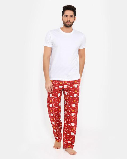 Shop Smugglerz Cocktails Pyjamas Red-Full