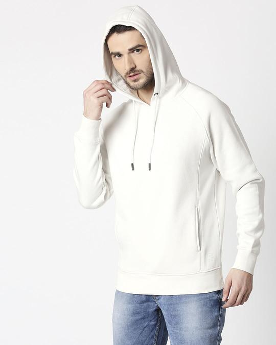 Shop Coconut Milk Stylised Panel Hoodie Sweatshirt-Design