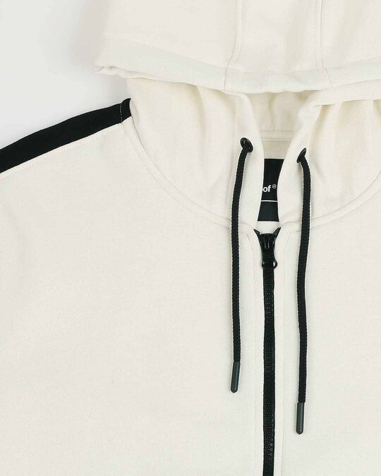 Shop Coconut Milk - Black Sleeve Panel Zipper Hoodie