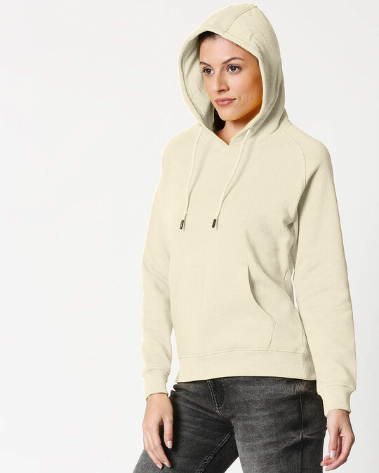 Shop Coconut Milk Basic Hoodie Sweatshirt-Back