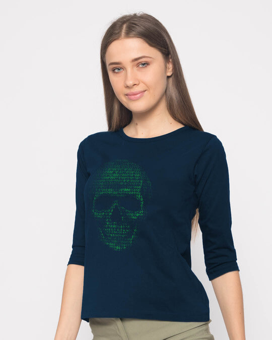 Shop Code Till You Die Round Neck 3/4th Sleeve T-Shirt-Full