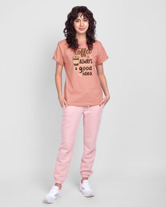 Shop Coffee Is A Good Idea Boyfriend T-Shirt-Design