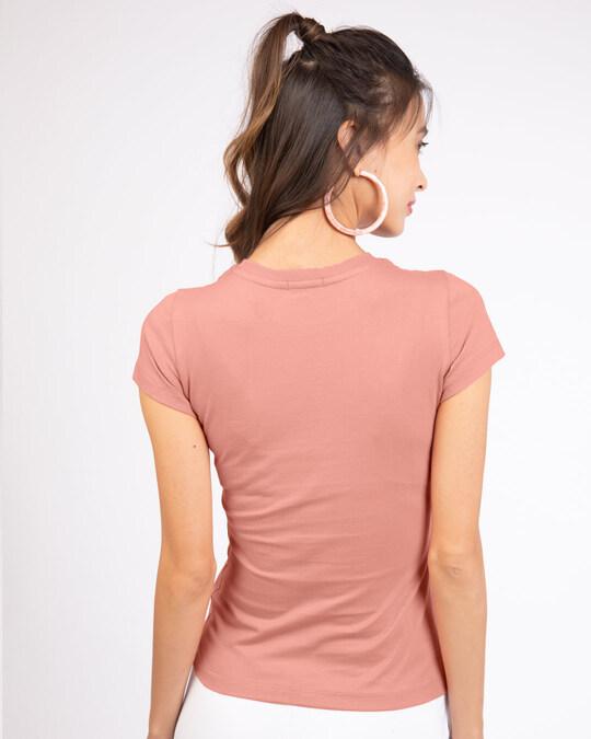 Shop Coffee On My Mind Block Half Sleeve T-Shirt Misty Pink-Back