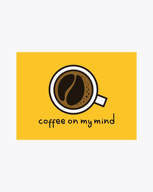 Shop Coffee On My Mind Block Round Neck 3/4th Sleeve T-Shirt White