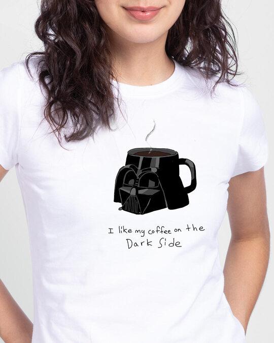 Shop Coffee on the dark side Half Sleeve Printed T-shirt