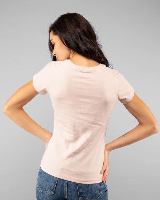 Shop Coffee On The Dark Side Half Sleeve T-Shirt (SWL) Seashell Pink-Back