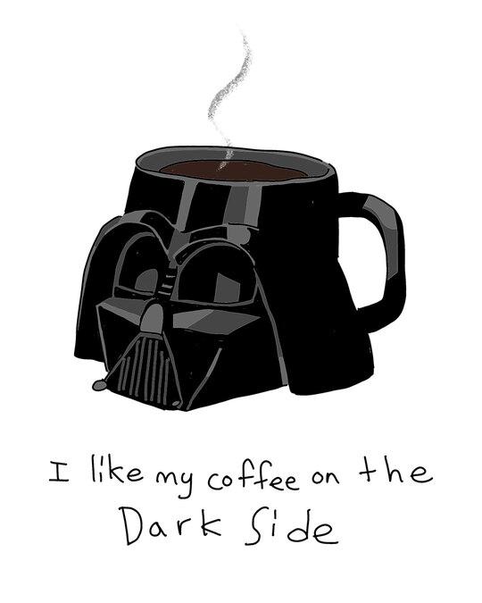 Shop Coffee On The Dark Side Boyfriend Varsity Rib H/S T-Shirt (SWL) Multicolor-Full