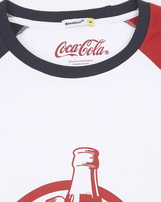 Shop Coke Contrast Raglan Full Sleeve T-Shirt
